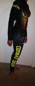 side view rashguard and tights